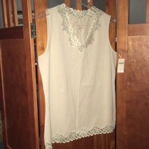 NWT Double Lace Tank Top
